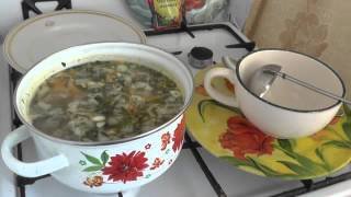 471.  Суп со щавелем на курином бульоне. Для завтрака, обеда на работе. Полезно. Амурка онлайн.
