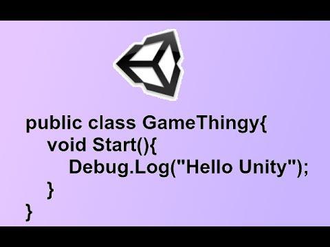 Unity3D - Scripting Basics and Debug.Log