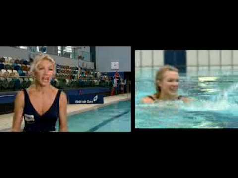 British Gas Swimming Nell McAndrew Video