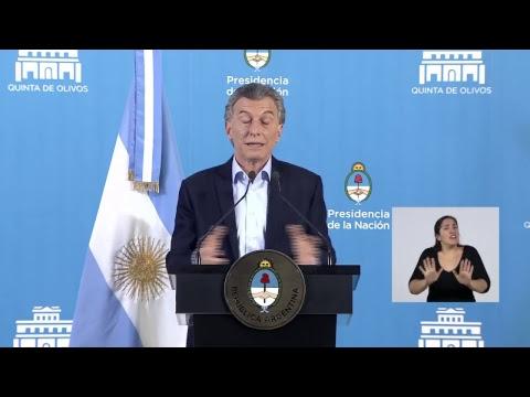 Conferencia de prensa de Mauricio Macri desde Olivos