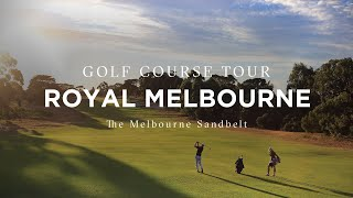 Flyover of The Royal Melbourne Golf Club, Melbourne Sandbelt, Victoria, Australia