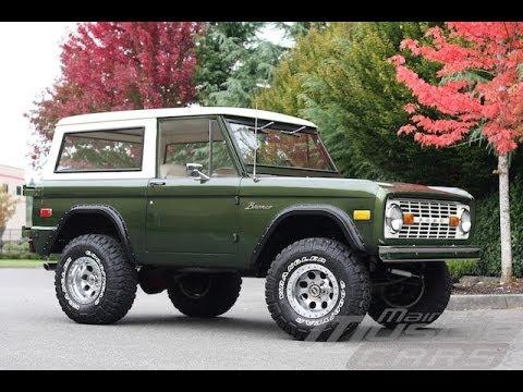 1976 Ford Bronco Dark Moss Green Youtube