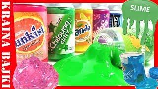 GLUT SLIME FANTA! Gluty Kolorowe w Puszkach Zapachowych! OPENBOX