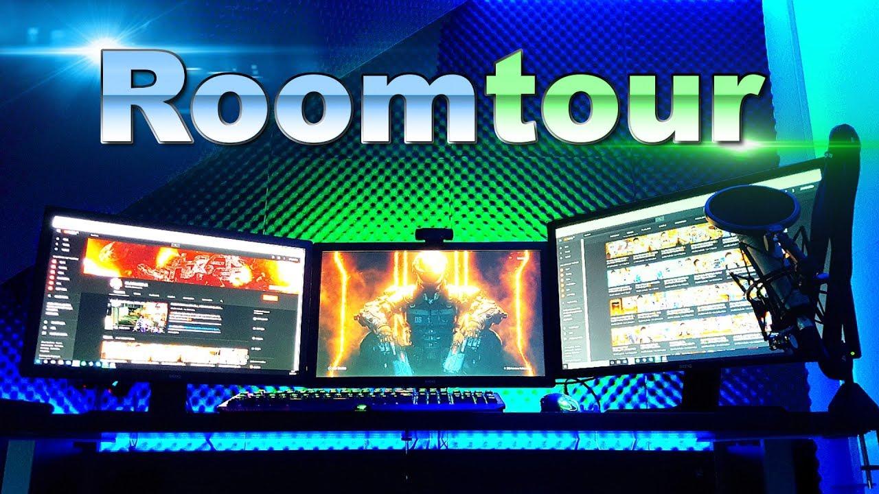 Mein Ultra Gaming Zimmer Roomsetup Tour 50000 Abonnenten