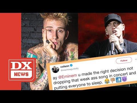 Machine Gun Kelly Says Eminem Would Put His Crowd To Sleep Performing