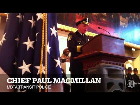 MBTA Transit Police Academy graduation ceremony