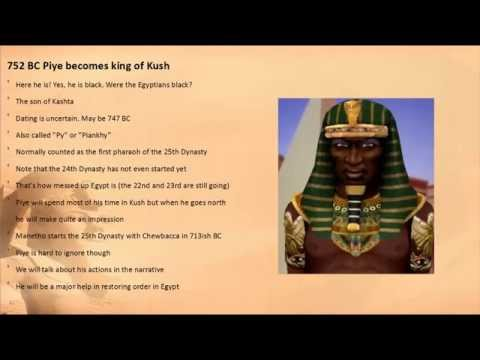 Events of the 750s BC part 1 Kings of Kush