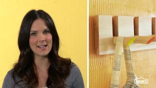 How To Build  A Dowel Coat Rack - Lowe's Creative Ideas