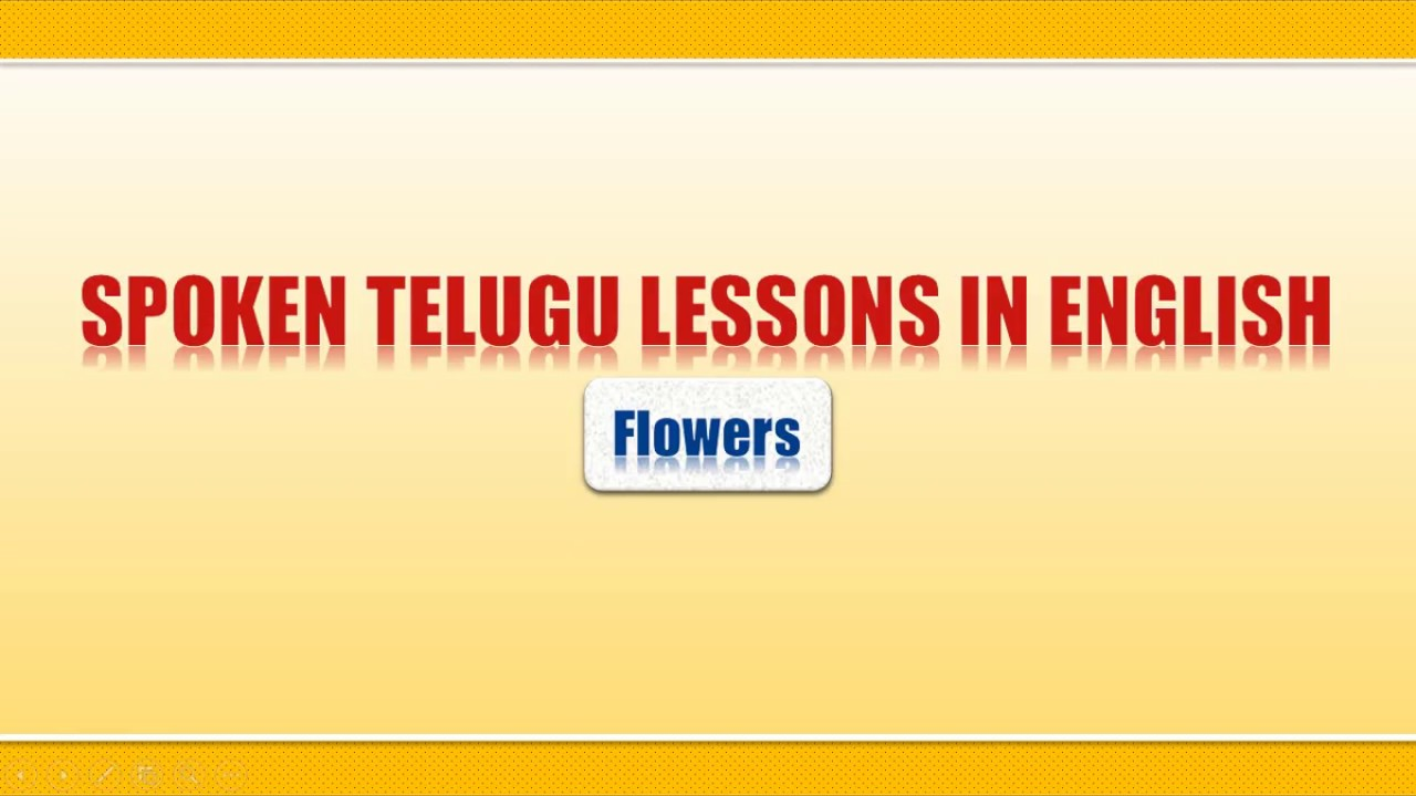Flowers names in English, Hindi & Telugu - Learn Telugu