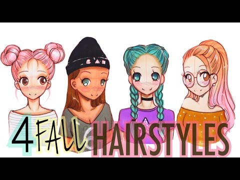☕️DRAWING 4 FALL HAIRSTYLES🍁 #FALLSERIES☕️