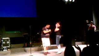 Marriage proposal at the sidewalk prophets concert