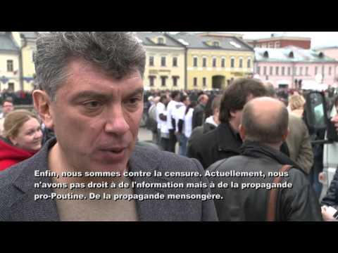 Interview Boris Nemtsov, Moscou, 6 mai 2013, CBC Radio-Canada
