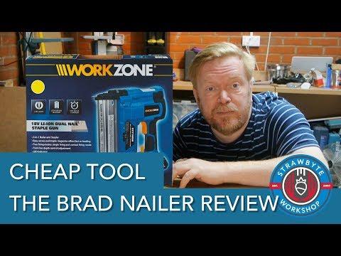 Brad Nailer Review | ALDI Workzone 18v Li-Ion Dual Nail / Staple Gun CCT18GW 18 Gauge