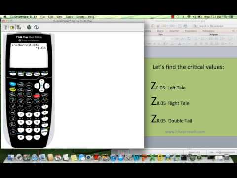 Z Alpha Table Statistics How to find the Z crit...