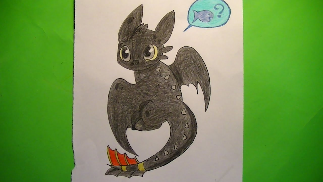 Como dibujar/pintar chibi de Chimuelo (Toothless) - Cómo entrenar a ...