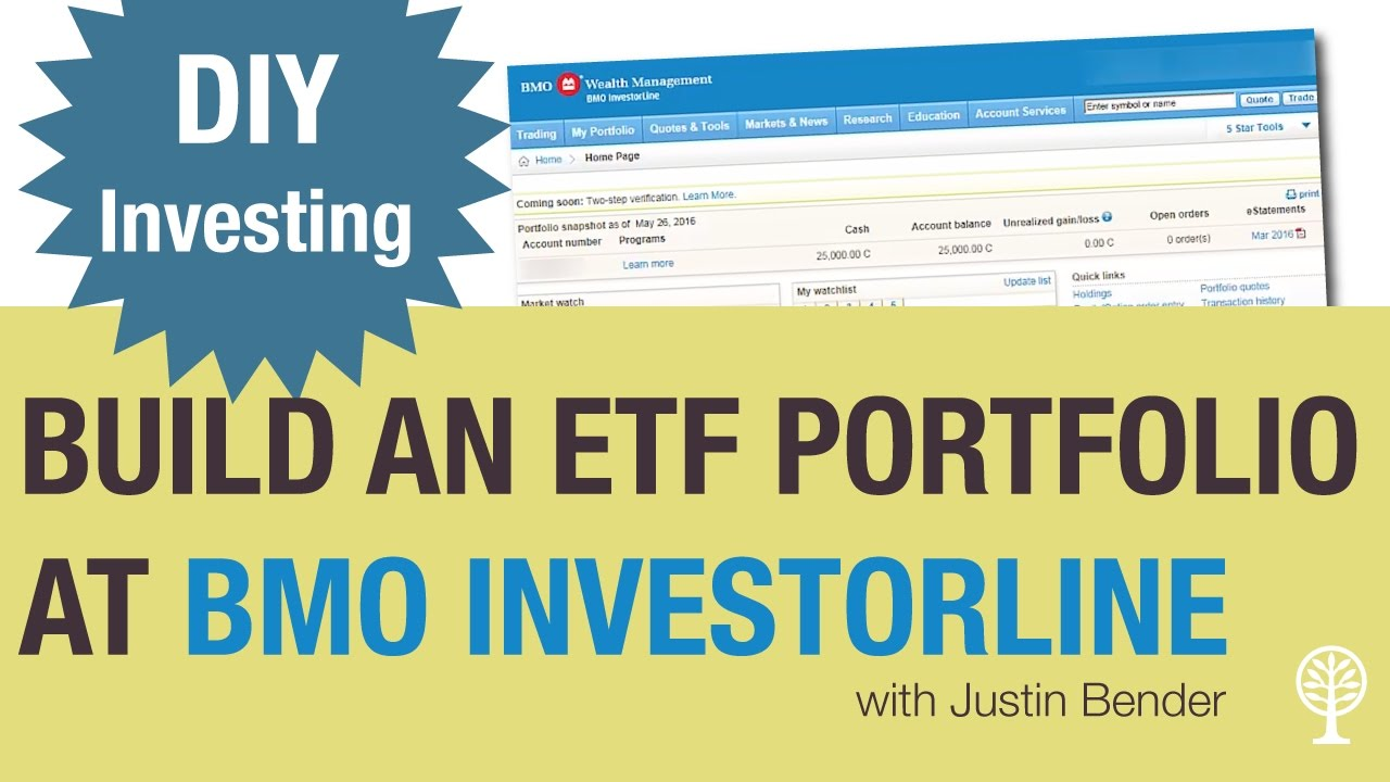 How To Build An ETF Portfolio At BMO Investorline YouTube
