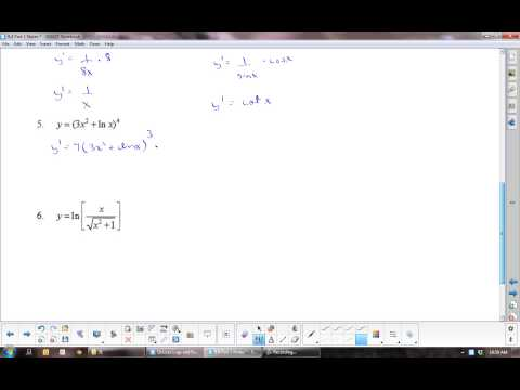 U8L4 Derivatives of Logarithmic Functions: Calculus