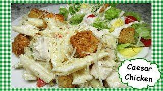 Creamy Caesar Chicken Pasta Casserole ~ Leftover Chicken Turkey Recipe