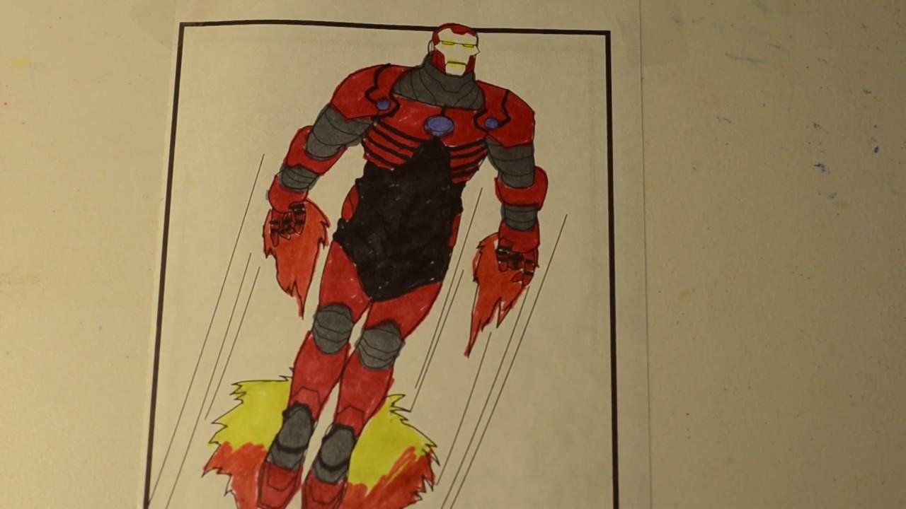 Iron Man Concept Suit 2 Coloring Page Avenger Endgame ...