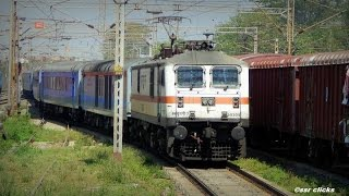 """BLUE KNIGHT OF ER"" Killer WAP7 12020 Ranchi Shatabdi blows aways Jhapandanga at 130"