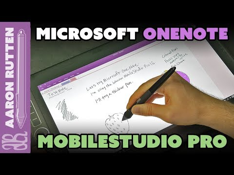 Microsoft OneNote On Wacom MobileStudio Pro 16 (Viewer Question)