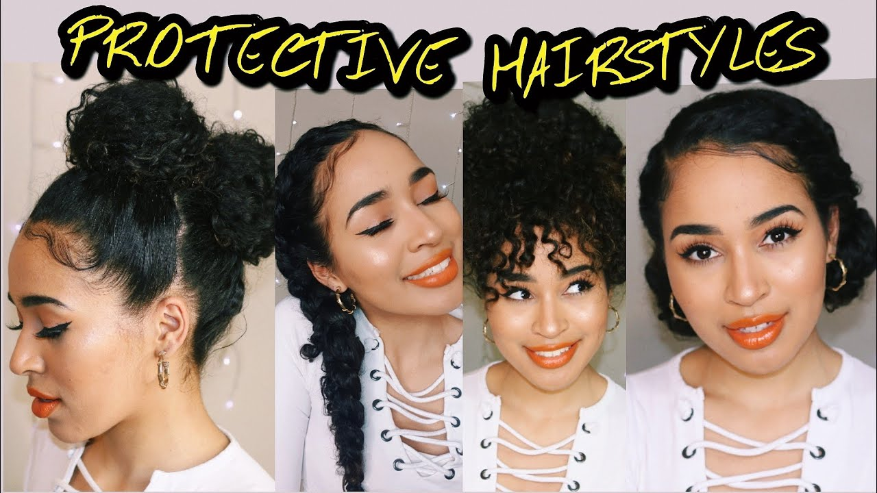 4 easy protective hairstyles for naturally curly hair! lana summer
