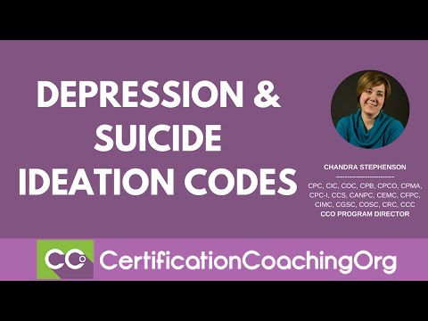 Sequencing of Codes: Depression and Suicide Ideation Codes