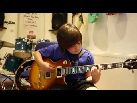 Anastasia Slash Guitar Cover by 10 Year Old Alex Jones