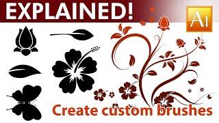 How to Create Custom Brushes in - Adobe Illustrator Tutorial - 05