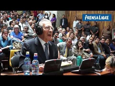 Ríos Montt se declara inocente de genocidio