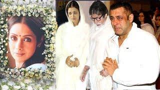 EMOTIONAL Bollywood Celebs Break Down Seeing Sridevi After PASSING AWAY- Salman,Aishwarya,Deepika