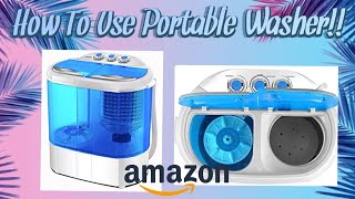 HOW TO: USE KUPPET 9LBS MINI PORTABLE WASHER AND SPIN DRYER!! | DIAMOND