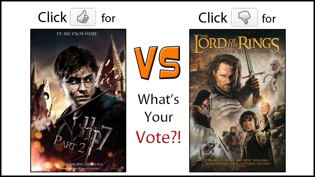 Poll: Harry Potter or Lord of the Rings?