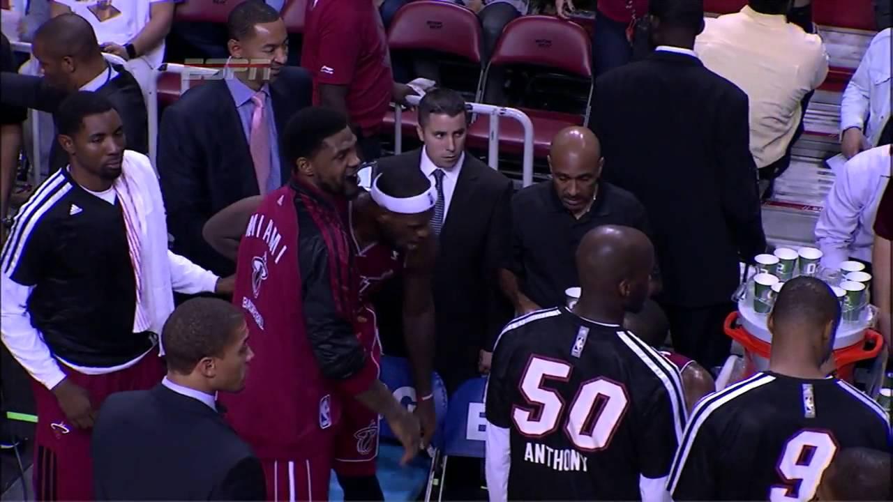LeBron James Yells At Mario Chalmers
