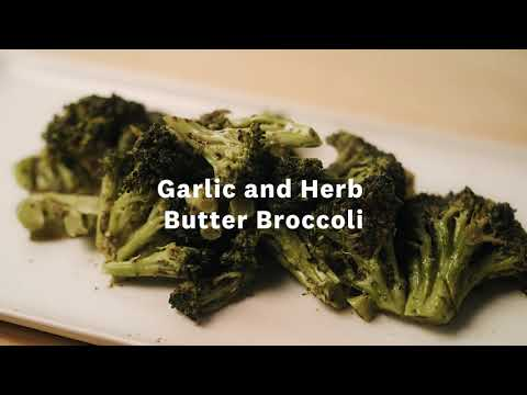 Thumbnail to launch Garlic and Herb Butter Broccoli video