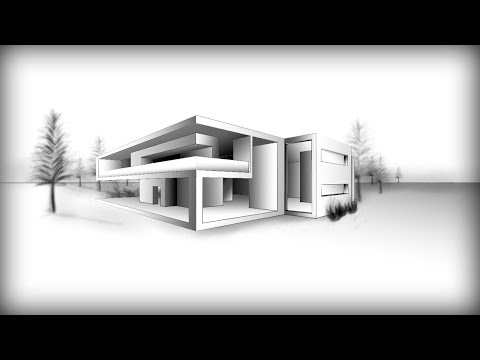 ARCHITECTURE | DESIGN #8: DRAWING A MODERN HOUSE