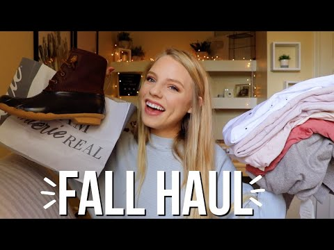AFFORDABLE FALL HAUL!! Cute boots, sweaters, cardigans, + more