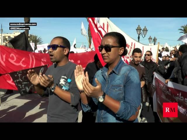 Nueva manifestación de profesores en prácticas en Rabat