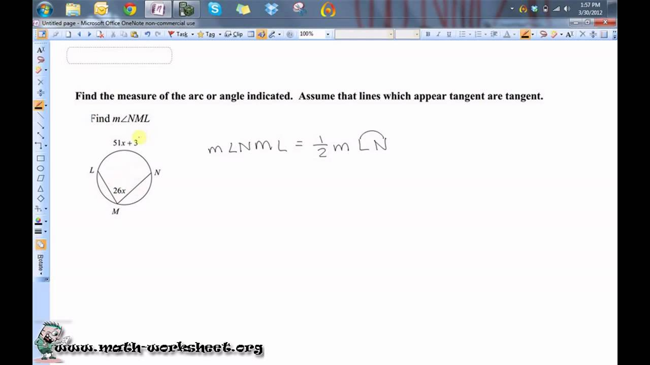 Geometry - Circles - Secant Tangent Angles - Hard - YouTube
