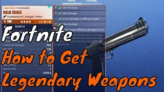 Fortnite Save The World Tips #2 - How To Get Legendary Weapons