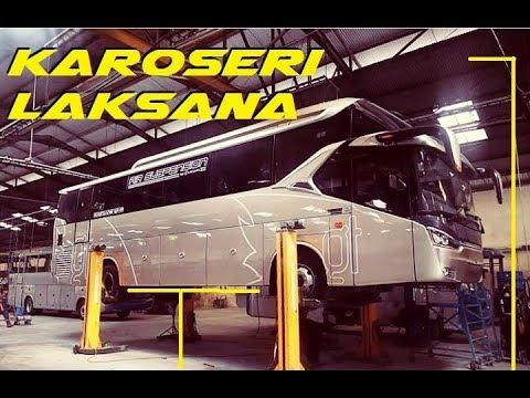 KAROSERI LAKSANA !! Melihat Proses Pembuatan Bus