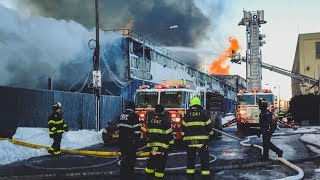 FDNY Battling 7 Alarm Blaze for Over 24 Hours in Williamsburg, Brooklyn