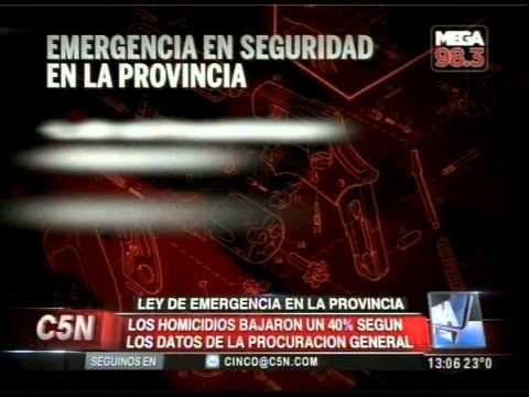 C5N - POLITICA: BAJARON UN 40% LOS HOMICIDIOS EN LA PROVINCIA