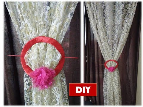 DIY how to make curtains holder out of cardboard