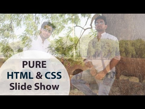 Pure HTML CSS Slide Show I Web Designing In Hindi