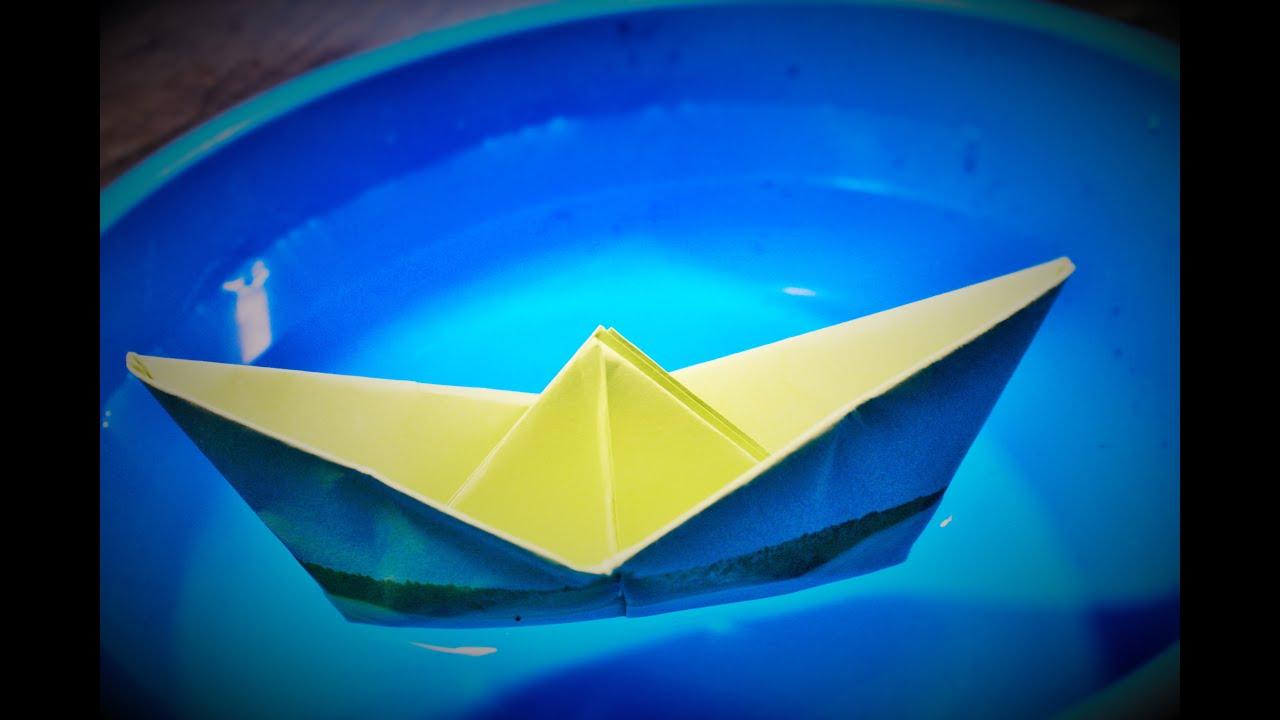 Origami  Cara Membuat Perahu Kertas  YouTube