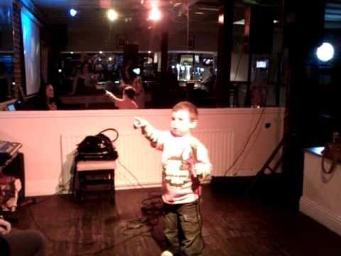 Jay singing on karaoke