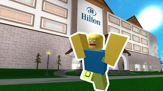 I ESCAPE FROM THIS POSSESSED HOTEL (Roblox Escape Evil Hotel Obby)