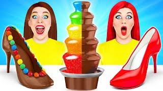 Chocolate Edible Makeup Challenge By Multi DO Challenge