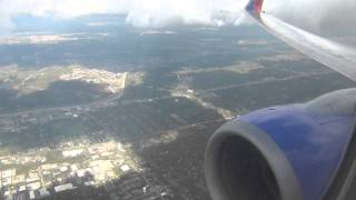 *Onboard* Turbulent Southwest 737-700 Takeoff Chicago Midway International